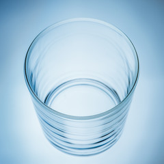 Empty glass background