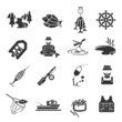 Set of Fishing Icons - 68128107