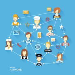 Global professional network concept