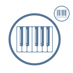 Piano keyboard vector icon isolated.