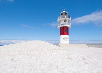 Ortegal lighthouse in Galicia, Span.