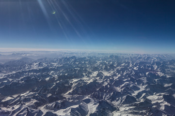 Birds Eye View of Himalayan Mountains