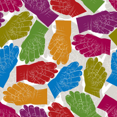 Fig fico hands seamless pattern, vector background for wallpaper