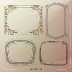 Borders Vector decorative frames