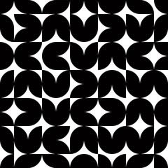 Geometric tiles seamless pattern.