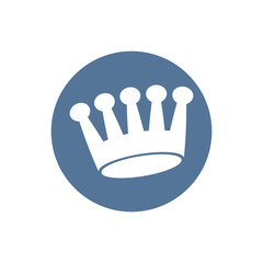 Crown icon, vector.