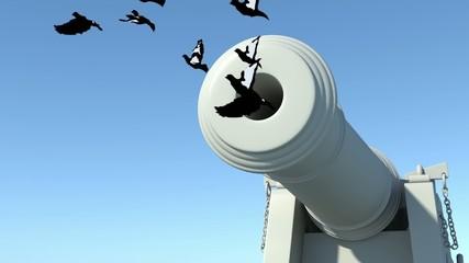 Cannone con colombe