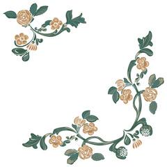Flower pattern, floral design elements