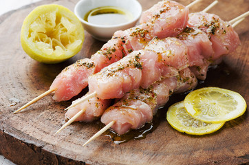 marinated meat for grill, chicken kebab