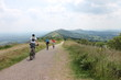 Cyclists on Malvern Hills in England - 68129792