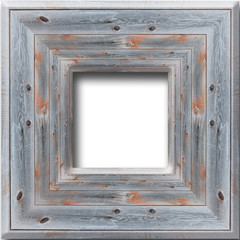 wooden frame isolated on the white background