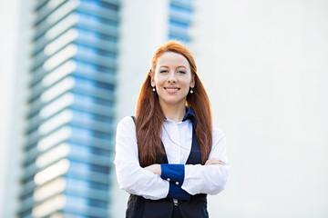 Portrait attractive confident  business woman, lawyer, student