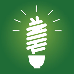 Eco Lightbulb Think Concept. Vector Icon