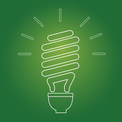 Eco Lightbulb. Vector Icon