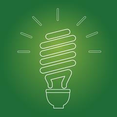 Eco Lightbulb. Vector Icon