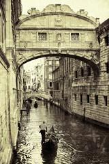 Most westchnień Wenecja styl retro