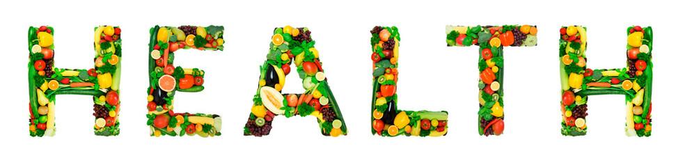 Healthy alphabet - HEALTH