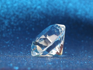 Transparent Diamond with Blue Background