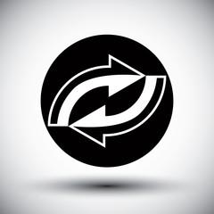 Reload refresh arrows loop vector simple icon.