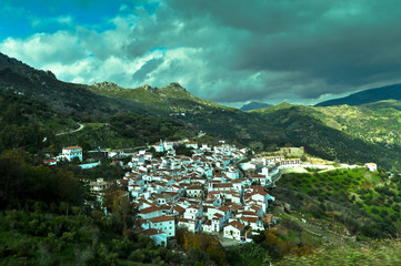 Small Spanish Town in Mountains of Andalusia Region