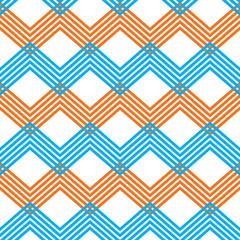 Zig zag geometric pattern, vector retro style
