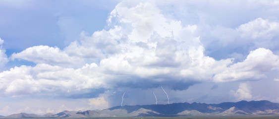 A Trio of Lightning Bolts in the Mountains