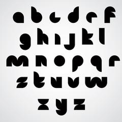 Digital style geometric simple font.