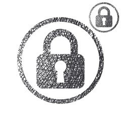 Padlock lock vector simple single color icon isolated