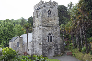 St Just in Roseland Church,Cornwall,England