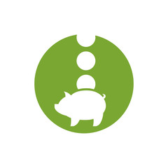 Piggy bank money, vector icon.