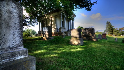Timelapse Motion Controlled view in a cemetery