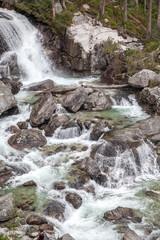 Waterfalls at stream Studeny potok in High Tatras, Slovakia