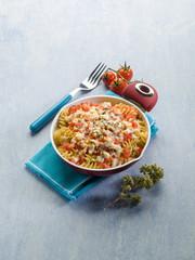 oven pasta with tomato sauce mozzarella and oregano