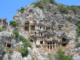 Rock tombs in Mirra