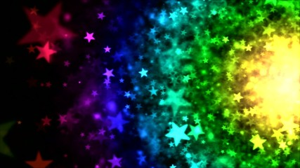 Colorful Particle Background - Loop Rainbow