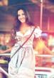 German Woman posing and wearing traditional Dirndl