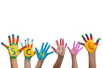 Schule Hände