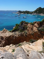 rocks and sea in La Maddalena archipelago, Spargi island