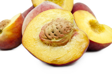 Ripe peach fruits