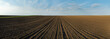 Leinwanddruck Bild - Arable land panorama