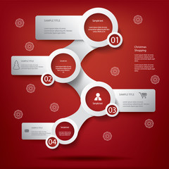 White infographic elements in Christmas design
