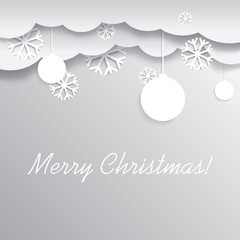 Decorative Christmas card vector design
