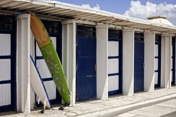 cabine e tavole per il surf