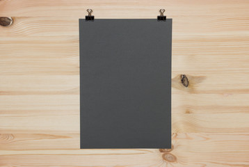 Dark grey paper sheet