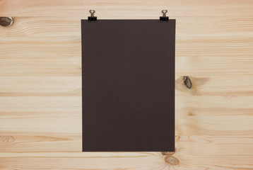 Black paper sheet