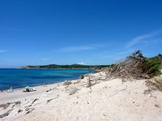 Spiaggia di Rena Majore in Costa Smeralda, Sardegna, Italia