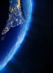 Asia city lights
