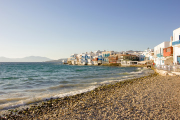 little venice in Mykonos,Greece