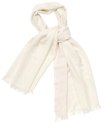 White scarf on white background