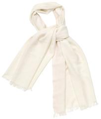 White scarf on white background